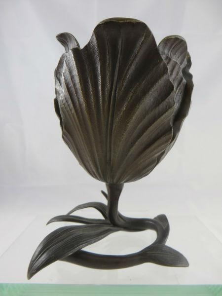Bronze Lotus Flower Vase Arts Amp Crafts Antiques
