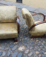 Pair of Art Deco hooped armchairs