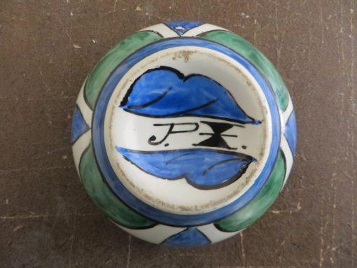 John Pearson small ceramic pedestal dish underside