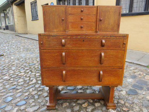 Arts and Crafts Cotswold School oak bureau