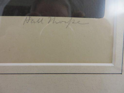 Hall Thorpe 'Marigolds' woodcut print pencil signature