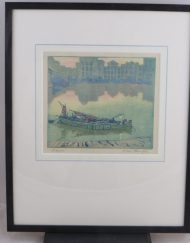 Hall Thorpe Woodcut print Title 'Dawn' Very rarely seen