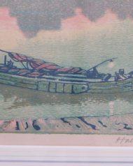 Hall Thorpe Woodcut print Title 'Dawn' Very rarely seen
