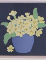 Primroses Hall Thorpe Woodcut print