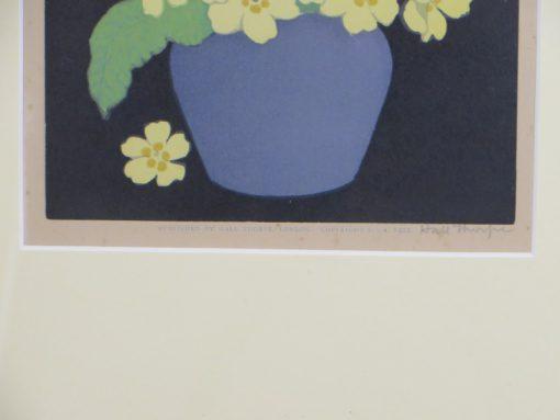 Primroses Hall Thorpe Woodcut print