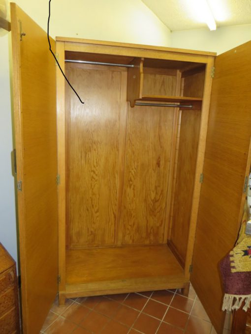 Heals single Oak Wardrobe, with original lock and key