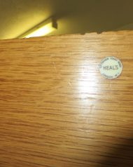 Heals single Oak Wardrobe, with original lock and key