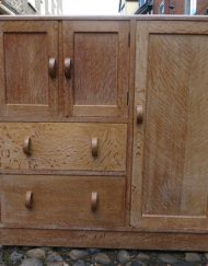 Heals Limed Oak Nursery Cupboard